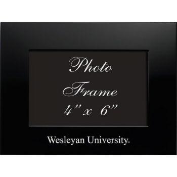Wesleyan University - 4x6 Brushed Metal Picture Frame - Black
