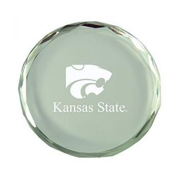 Kansas State University-Crystal Paper Weight