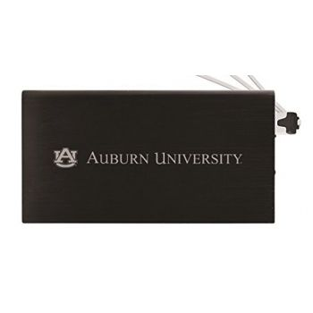 8000 mAh Portable Cell Phone Charger-Auburn University -Black