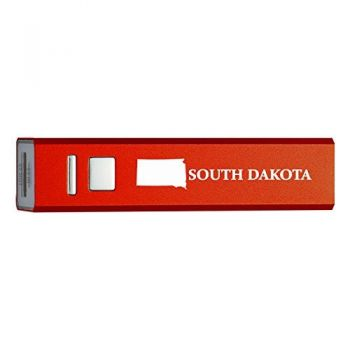 South Dakota-State Outline-Portable 2600 mAh Cell Phone Charger-