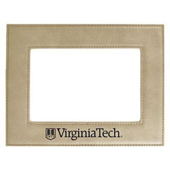 Virginia Tech-Velour Picture Frame 4x6-Tan