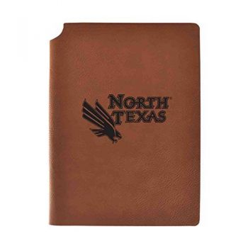 University of North Texas Velour Journal with Pen Holder|Carbon Etched|Officially Licensed Collegiate Journal|