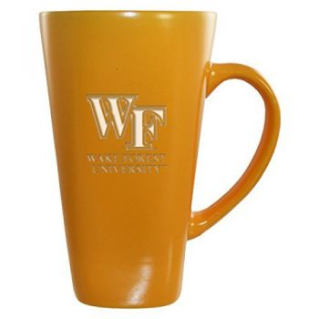 Wake Forest University -16 oz. Tall Ceramic Coffee Mug-Gold