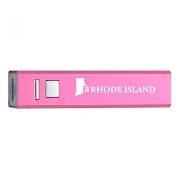 Rhode Island-State Outline-Portable 2600 mAh Cell Phone Charger-