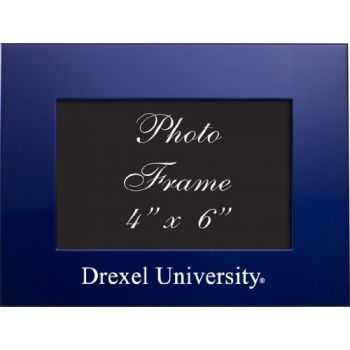 Drexel University - 4x6 Brushed Metal Picture Frame - Blue