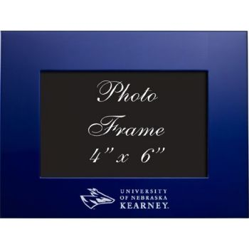 University of Nebraska at Kearney - 4x6 Brushed Metal Picture Frame - Blue