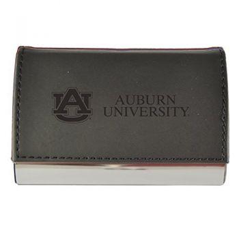 Velour Business Cardholder-Auburn University-Black