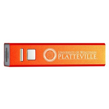 University of Wisconsin Platteville - Portable Cell Phone 2600 mAh Power Bank Charger - Orange