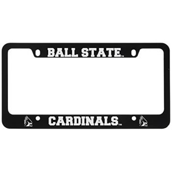Ball State University -Metal License Plate Frame-Black