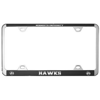 Monmouth University -Metal License Plate Frame-Black