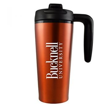 Bucknell University -16 oz. Travel Mug Tumbler with Handle-Orange