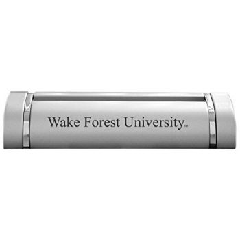 Wake Forest University-Desk Business Card Holder -Silver