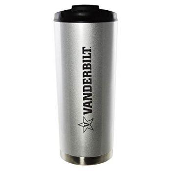 Vanderbilt University-16oz. Stainless Steel Vacuum Insulated Travel Mug Tumbler-Silver