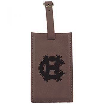 College of the Holy Cross-Leatherette Luggage Tag-Brown