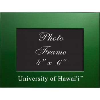 University of Hawaii at M?noa - 4x6 Brushed Metal Picture Frame - Green