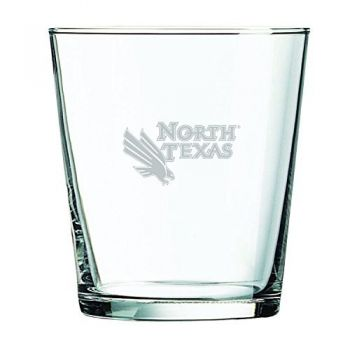 University of North Texas-13 oz. Rocks Glass
