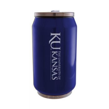 University of Kansas - Stainless Steel Tailgate Can - Blue
