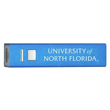University of North Florida - Portable Cell Phone 2600 mAh Power Bank Charger - Blue