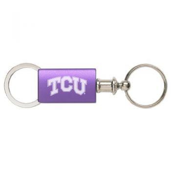 Texas Christian University - Anodized Aluminum Valet Key Tag - Purple