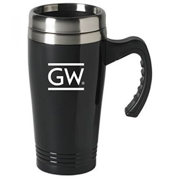 George Washington University-16 oz. Stainless Steel Mug-Black