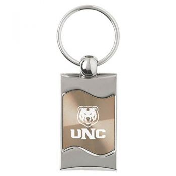 University of Northern Colorado - Wave Key Tag - Gold