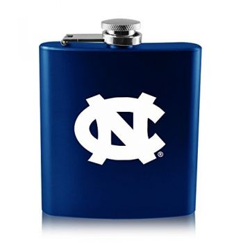 University of North Carolina-6 oz. Color Stainless Steel Flask-Blue