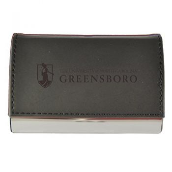 Velour Business Cardholder-University of North Carolina at Greensboro-Black