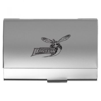 Delaware State University - Two-Tone Business Card Holder - Silver