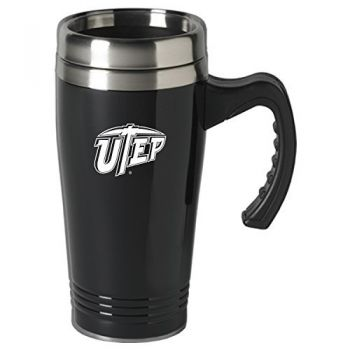 The University of Texas at El Paso-16 oz. Stainless Steel Mug-Black