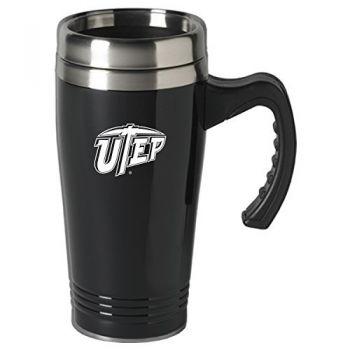 The University of Texas at El Paso-16 oz. Stainless Steel Mug-Black
