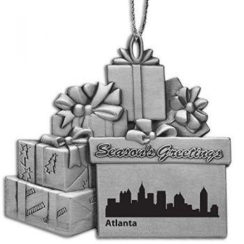 Pewter Gift Display Christmas Tree Ornament - Atlanta City Skyline