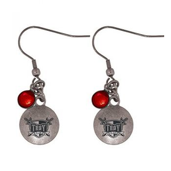 Troy University-Frankie Tyler Charmed Earrings