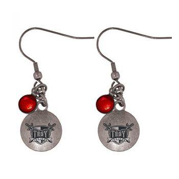 Troy University-Frankie Tyler Charmed Earrings