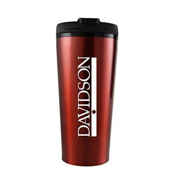 Davidson College-16 oz. Travel Mug Tumbler-Red