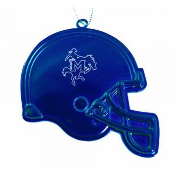 McNeese State University - Christmas Holiday Football Helmet Ornament - Blue