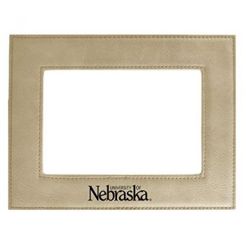 University of Nebraska-Velour Picture Frame 4x6-Tan