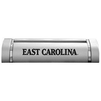 East Carolina University-Desk Business Card Holder -Silver