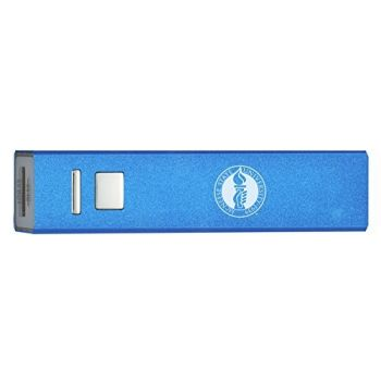 McNeese State University - Portable Cell Phone 2600 mAh Power Bank Charger - Blue