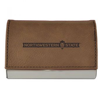 Velour Business Cardholder-Northwestern State University-Brown