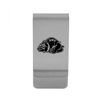 Gardner-Webb University|Money Clip with Contemporary Metals Finish|Solid Brass|High Tension Clip to Securely Hold Cash, Cards and ID's|Gold