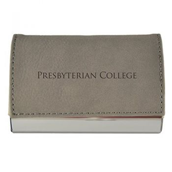 Velour Business Cardholder-Presbyterian College-Grey
