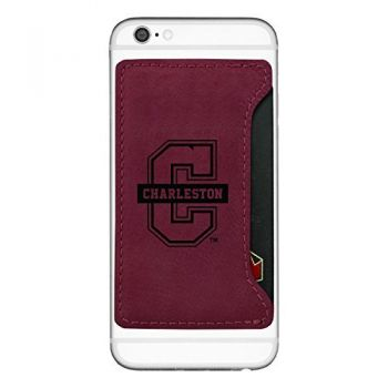 College of Charleston-Cell Phone Card Holder-Burgundy
