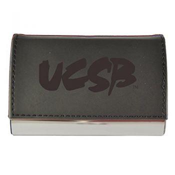Velour Business Cardholder-University of California, Santa Barbara-Black