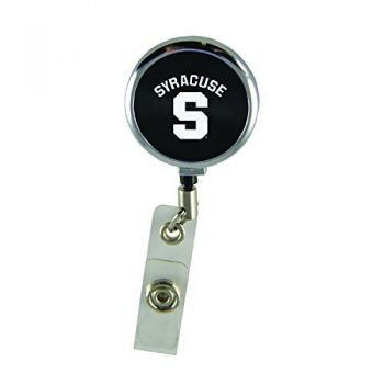 Syracuse University-Retractable Badge Reel-Black
