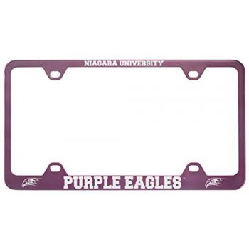 Niagara University -Metal License Plate Frame-Pink