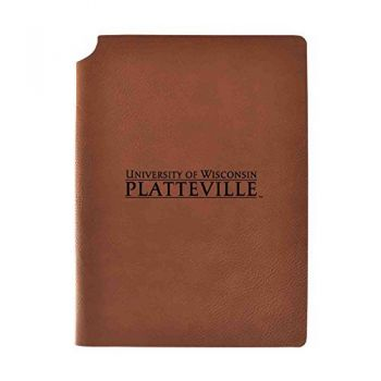 University of Wisconsin-Platteville Velour Journal with Pen Holder|Carbon Etched|Officially Licensed Collegiate Journal|