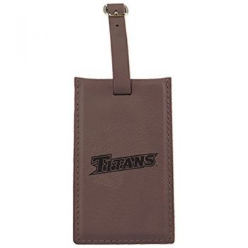 California State University Fullerton -Leatherette Luggage Tag-Brown