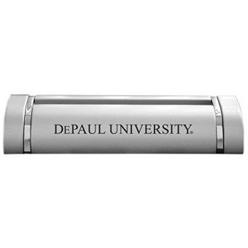DePaul University-Desk Business Card Holder -Silver