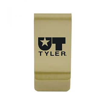Texas Tech University|Money Clip with Contemporary Metals Finish|Solid Brass|High Tension Clip to Securely Hold Cash, Cards and ID's|Silver
