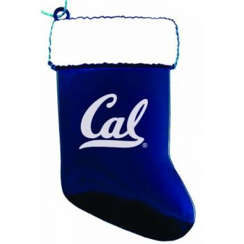 University of California, Berkeley - Christmas Holiday Stocking Ornament - Blue